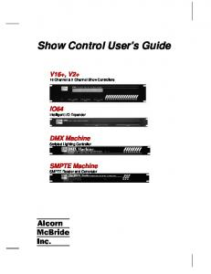 Show Control User's Guide
