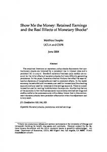 Show Me the Money: Retained Earnings and the Real Effects of Monetary Shocks