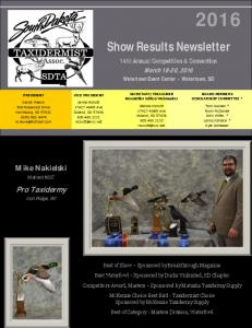 Show Results Newsletter