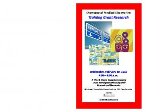 Showcase of Medical Discoveries: Training Grant Research