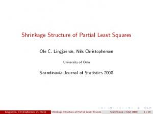 Shrinkage Structure of Partial Least Squares