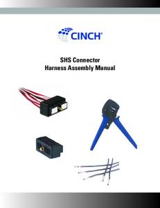 SHS Connector Harness Assembly Manual