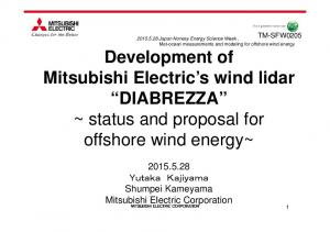 Shumpei Kameyama Mitsubishi Electric Corporation
