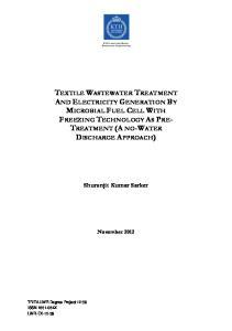 Shuronjit Kumar Sarker. November TRITA-LWR Degree Project 12:39 ISSN X LWR-EX-12-39
