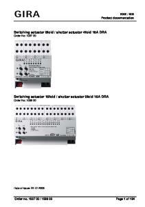 shutter actuator 4fold 16A DRA Order No: