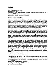 Shylock. Course description and outline