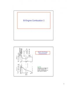 SI Engine Combustion. Spark discharge characteristics
