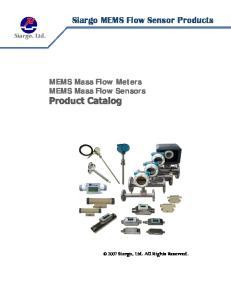 Siargo MEMS Flow Sensor Products MEMS Mass Flow Meters MEMS Mass Flow Sensors