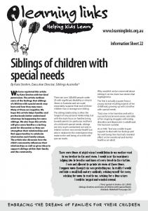 Siblings of children with