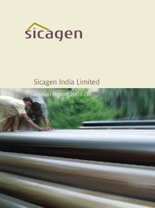 Sicagen India Limited. Annual Report