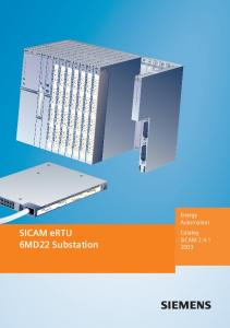 SICAM ertu 6MD22 Substation