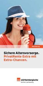 Sichere Altersvorsorge. PrivatRente Extra mit Extra-Chancen