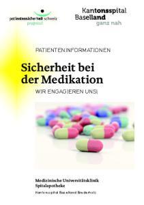 Sicherheit bei der Medikation