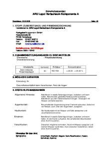 Sicherheitsdatenblatt ARU Lupol Hartschaum Komponente A