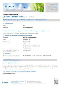 Sicherheitsdatenblatt ULTRA CLEANER PLUS COD