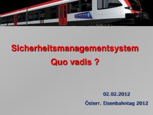 Sicherheitsmanagementsystem Quo vadis?