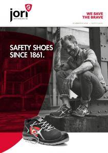 SICHERHEITSSCHUHE I SAFETY SHOES SAFETY SHOES SINCE 1861