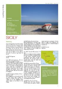 SICILY. cycling in Italy. Itinerary. Tour code: GBSIXX - year 2012