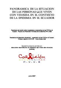 SIDA EN EL contexto de la epidemia en el ECUADOR