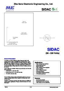 SIDAC SIDAC. Z ibo Seno Electronic Engineering Co., Ltd. ( Volts)