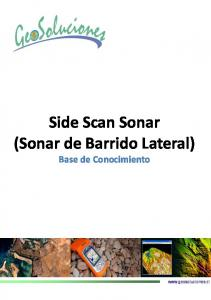Side Scan Sonar (Sonar de Barrido Lateral) Base de Conocimiento