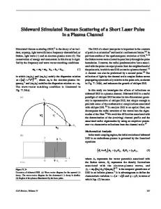 Sideward Stimulated Raman Scattering of a Short Laser Pulse in a Plasma Channel