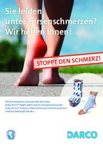 Sie leiden unter Fersenschmerzen? Wir helfen Ihnen! STOPPT DEN SCHMERZ!