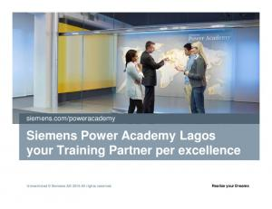 Siemens Power Academy Lagos your Training Partner per excellence
