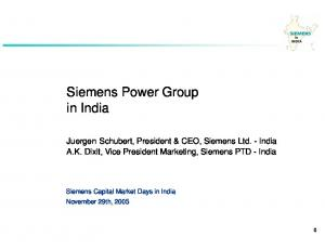 Siemens Power Group in India