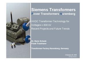 Siemens Transformers Power Transformers Nuremberg