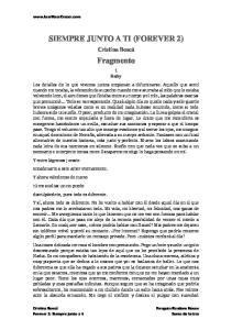 SIEMPRE JUNTO A TI (FOREVER 2) Fragmento