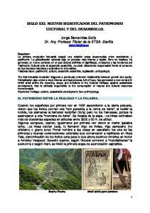 SIGLO XXI: NUEVOS SIGNIFICADOS DEL PATRIMONIO CULTURAL Y DEL DESARROLLO