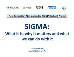 SIGMA: What it is, why it ma-ers and what we can do with it