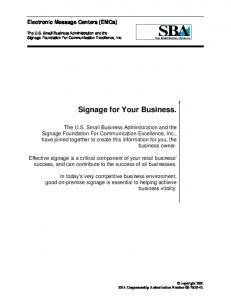 Signage for Your Business