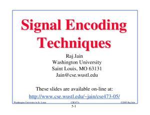 Signal Encoding Techniques Raj Jain