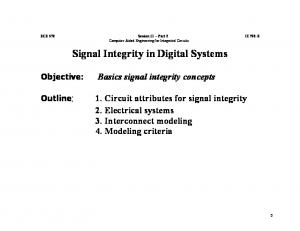 Signal Integrity in Digital Systems