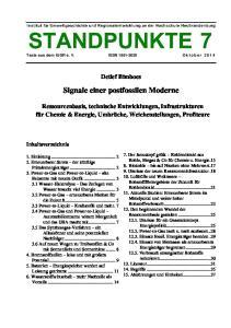 Signale einer postfossilen Moderne