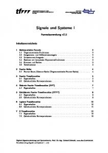 Signale und Systeme I