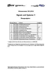 Signale und Systeme II