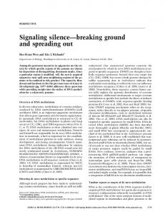 Signaling silence breaking ground and spreading out