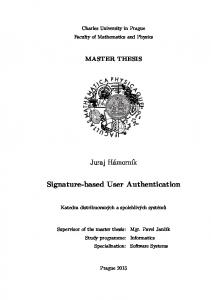 Signature-based User Authentication