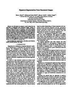 Signature Segmentation from Document Images