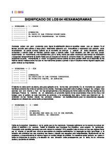 SIGNIFICADO DE LOS 64 HEXAMAGRAMAS