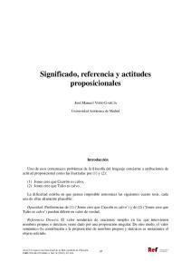 Significado, referencia y actitudes proposicionales