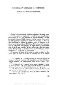 SIGNIFICADO Y VERDAD EN P. F. STRAWSON