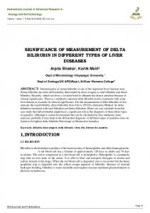 SIGNIFICANCE OF MEASUREMENT OF DELTA BILIRUBIN IN DIFFERENT TYPES OF LIVER DISEASES
