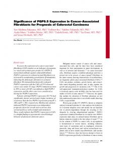 Significance of PGP9.5 Expression in Cancer-Associated Fibroblasts for Prognosis of Colorectal Carcinoma