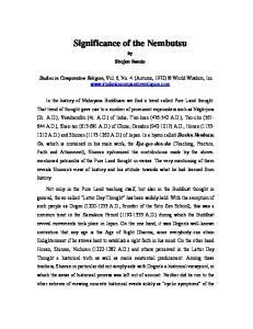 Significance of the Nembutsu