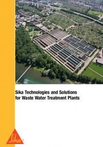 Sika Technologies and Solutions for Waste Water Treatment Plants