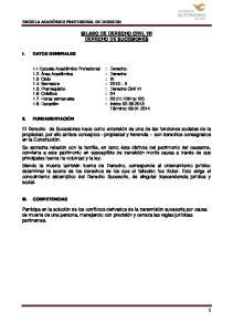 SILABO DE DERECHO CIVIL VII DERECHO DE SUCESIONES